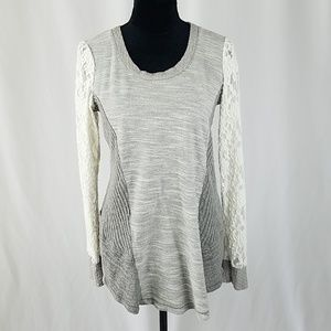 Anthropologie Saturday Sunday L long lace sweater